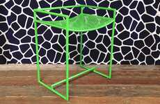 Perforated Nesting Stools - These Lightweight Seats By Haskell are Vibrant and Sturdy