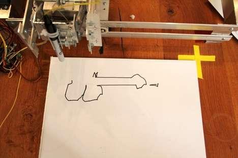 Naughty Drawing Robots