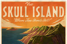Cinematic Travel Posters - A Collection for Ster-Kinekor Theatres Glorifies Movie Travel Locations