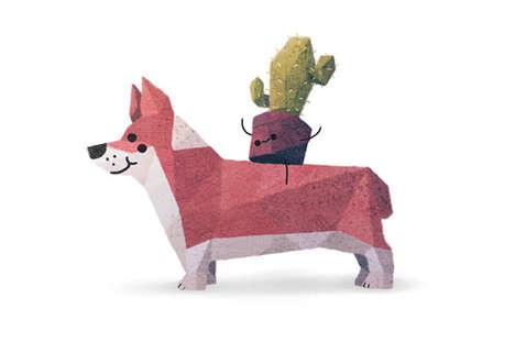 Quirky Canine Companion Cartoons