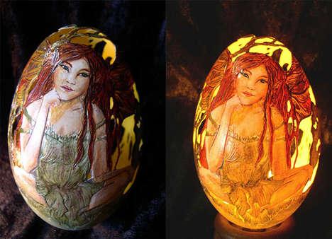 Romantic Eggshell Art