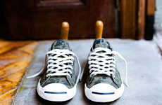Stylishly Unkept Sneakers - The Jack Purcell Converse Line for Fall is Fashionably Worn-In