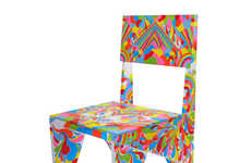 Vivid Pop-Art Furnishings - The Higgie Chair by Charlie Crowther-Smith and Anna Higgie is Vibrant