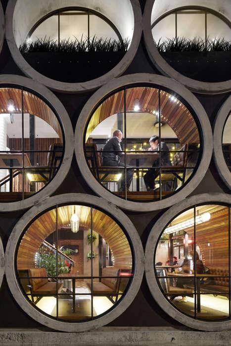 Barrel-Inspired Hotel Bars