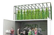 Pop-Up Urban Microfarms - The 'GrowUp Box' Automatically Raises Fish and Plants in a Small Area