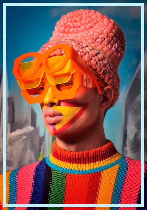 Technicolored Knitwear Editorials