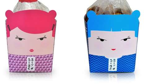 Personified Biscuit Boxes