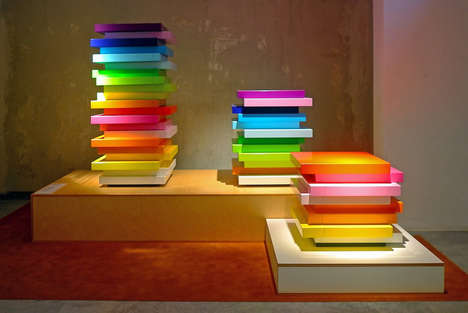 Layered Rainbow Cabinets