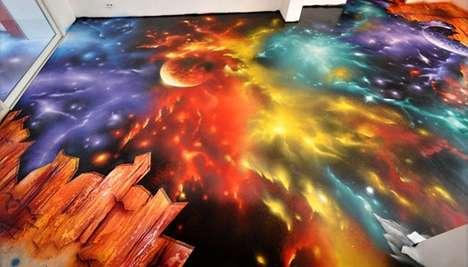 Cosmic-Bursting Murals