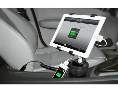 Multi-Tech Car Chargers - This In-Car iPad Charger Stays Put in Your Cup Holder