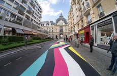 Vibrant Literal Street Art - This Colorful Street Art Uses Road as a Canvas