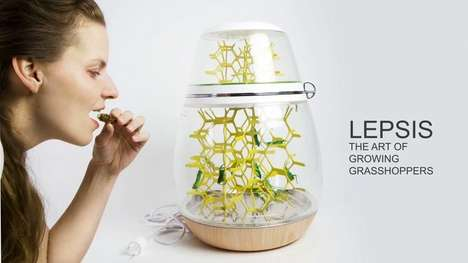 Edible Bug Breeding Terrariums - The Lepsis Kitchen Terrarium Encourages Eating Insects for Protein