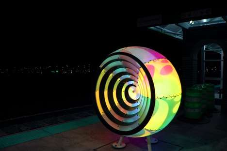 Brightly Bulbous Light Sculptures
