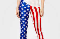 Patriotic Tight Accessories - These Springsteen Leggings from Fred Flare Show National Pride