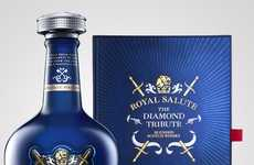 Royalty-Honoring Whiskies - The Diamond Tribute Whisky from Royal Salute Celebrates the Queen