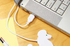 Dog Lover Tech Tools - The Poodle USB Hub from Fred Flare is Cleverly Practical