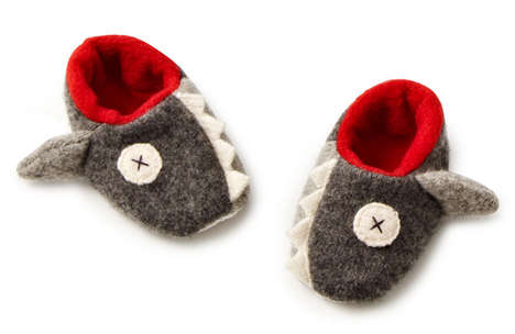 Shark-Toothed Baby Booties