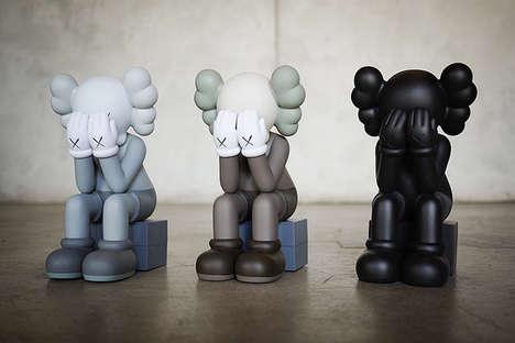 Crying Cartoon Clown Figurines