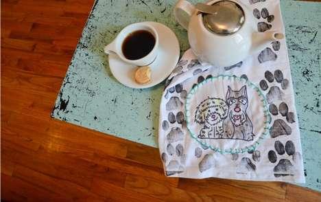 DIY Paw Print Towels