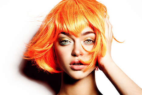 Brightly Hued Hair Photography