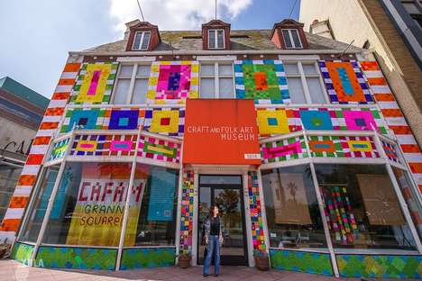 Knitted Graffiti Installations