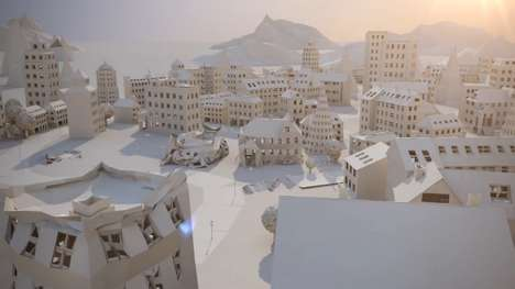 Delicate Paper-Made Metropolises