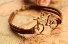 Bicycle-Inspired Bracelets - These Copper Jewelry Bracelets Feature a Miniature Bicycle Design