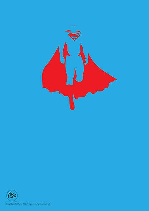 35 Examples of Simplified Superhero Art