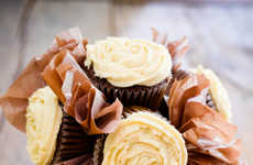 Beer Confection Bouquets - The Father's Day Cupcake Bouquet Boast Manly Ingredients