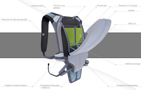 Armored Biking Backpacks - The 'Juggernaut' Biking Backpack Protects Cyclists on the Road