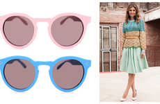 Non-Profit Pastel Sunglasses - The 'Dasha for Illesteva' Women's Glasses Donate Profits to Charity
