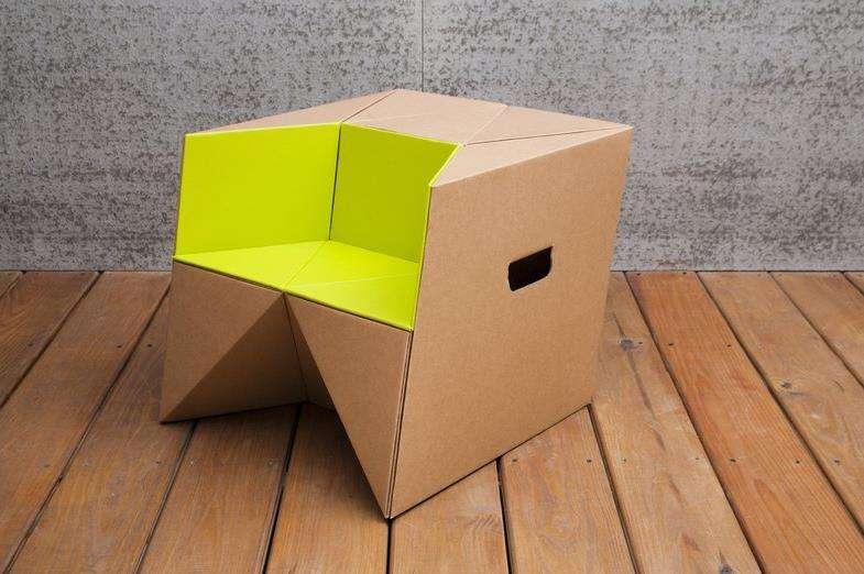 Great Cardboard Origami Child Stools