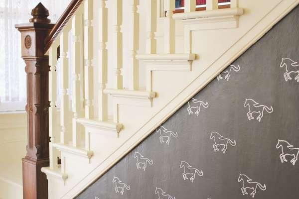 Diy Equestrian Wall Stencils Wall Stencil