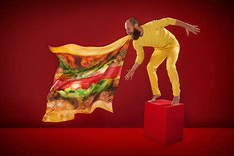 Fast Food Inspired Accessories - The Hamburger Scarf by Antoine Peters is Deliciously Chic