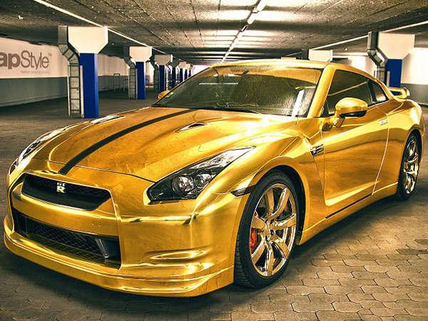 24 Glamorously Golden Automobiles