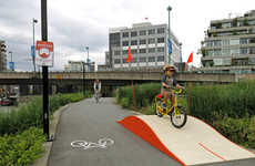 Playful Bike Ramp Projects - Whoopdeedoo Vancouver by Greg Papove Makes Cycling More Fun