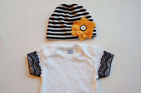 DIY Seamlessly Embellished Babywear - Personalize a Plain Onesie with These No-Sew Embellishments