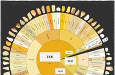 Cheese Guide Infographics - This Cheese Wheel-Shaped Infographic Explains Popular Types of Cheeses