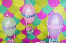 DIY Uplifting Cupcake Decor - This DIY Hot Air Balloon Decoration Lifts Moods at Gatherings