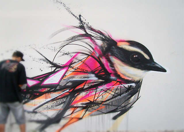 Striking Avian Street Art