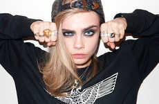 Sassy Punk-Themed Photoshoots - The Cara Delevigne Photos by Terry Richardson Show Off her Edginess