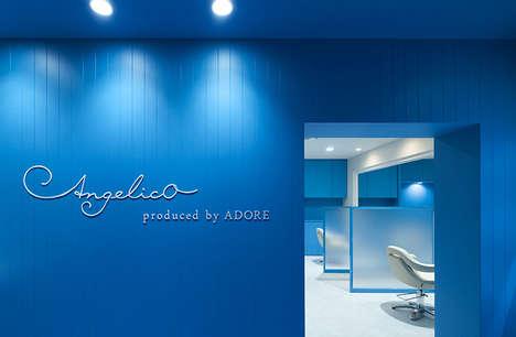 Monochromatic Blue-Styled Salons