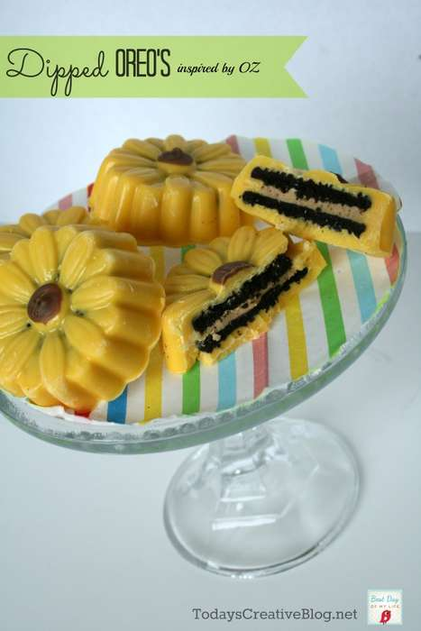 This Treat Recipe Adds a Floral Touch to Oreo Cookies