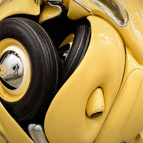 Playful Spherical Cars - Ichwan Noor Crumpled a Vintage Volkswagen into a Giant Toy Ball