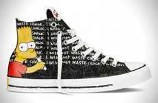 Charismatic Cartoon Sneakers - This Converse All Star Collection Features The Simpsons