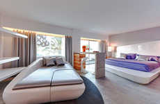 Eclectic-Tech Integrated Hotels - The Ushuaia Ibiza Beach Hotel has Artfully Eclectic Interiors