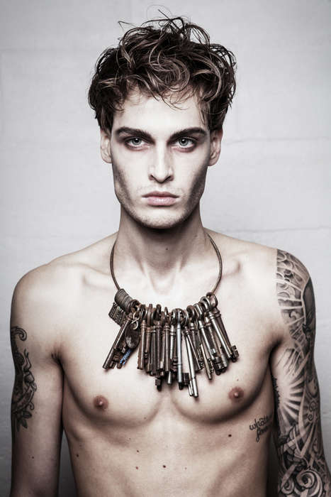 Dark Tattoo Filled Photography - This Men's Fashion Photography Series Features Plenty of Leather