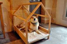 Simple Structure Dog Houses - This DIY Dog House by 'Woonideeen' is Easy to Build