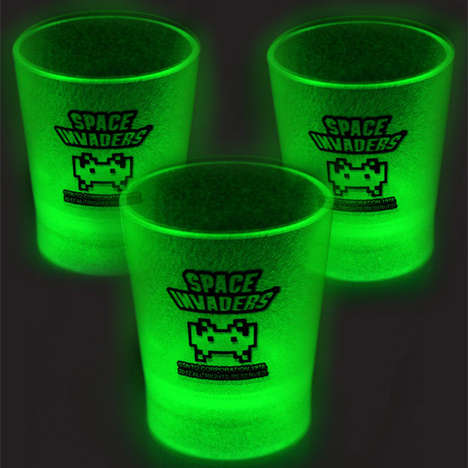 Illuminated 8-Bit Shot Glasses