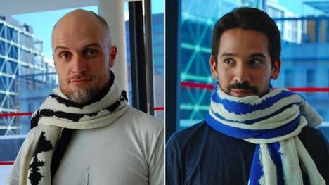 Brain-Patterned Scarves